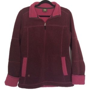 Aigle Polartec Maroon Fleece Jacket